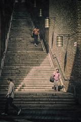 (Dale Michelsohn) Tags: street city stairs dark nikon shadows stockholm steps d7000 dalemichelsohn