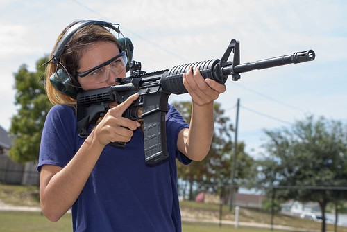 Woman Shooting AR-15 | Aero Precision AC-15