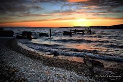 an old pier at sunset. (fabriziobelia) Tags: sunset summer lake nature canon landscape umbria trasimeno