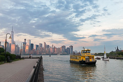 Paulus Hook Sunset (mg5thave) Tags: new york city nyc sunset ferry clouds river manhattan jersey hudson hook paulus