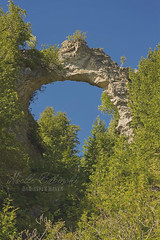 Arch Rock (Proper Photography) Tags: blue trees summer sky green nature beautiful beauty june rock canon colorful natural bright naturallight sunny mackinacisland naturephotography rockformation 2016 canoncamera archrock beautyinnature canoneos7d canon7d summer2016 june2016 babinskishaven