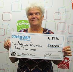 Sheila Stilwell - $10,000 Jokers Wild (Idaho Lottery) Tags: jacksons scratchticket wooh lotterywinner scratchtickets idaholottery scratchgames luckywinner scratchgame luckhappens