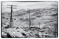 electricity (alamond) Tags: blackandwhite bw monochrome canon is wire energy pole 7d l remote usm tajikistan ef pamir mkii markii elecricity 70300 brane llens f456 alamond zalar