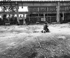 (martaboska) Tags: blackandwhite bw bike industrial littlegirl survival blackandwhitephotography wrocaw