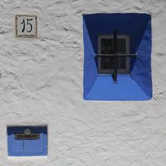 Sitges 2016 (No Great Hurry) Tags: barcelona blue shadow espaa white square spain mediterranean shadows render 15 catalonia sitges catalua textured fifteen blueandwhite dorada 2016 costadorada costadaurada robinbarr june2016 nogreathurry robinmauricebarr