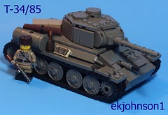 T-34/85 (ekjohnson1) Tags: world old two brick america dark grey war tank lego tiger wwii 1940s german build russian panther citizen 85 coldwar moc t34 bricklink brickarms brickfair citizenbrick