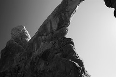 Stretching to the sky (dylangaughan43) Tags: blackandwhite usa utah desert arches archesnationalpark nationalparks rockformations findyourpark