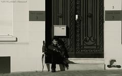 Portrait (Natali Antonovich) Tags: street brussels portrait monochrome architecture umbrella belgium belgique belgie lifestyle relaxation sweetbrussels
