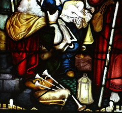 St Mary's, Haverfordwest, Pembrokeshire (Sheepdog Rex) Tags: stainedglass bagpipes bagpiper stmaryschurch haverfordwest