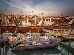 Fishing boats at Souq Sharq, Kuwait City (CamelKW) Tags: sunrise boats fishing kuwait kuwaitcity souqsharq