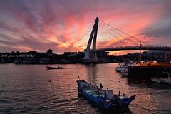 Summer solstice in Tmasui (szintzhen) Tags: bridge sunrise boat taiwan   tamsui    sunglow   newtaipeicity