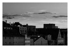 ber den Dchern von Regensburg (One-Basic-Of-Art) Tags: altstadt regensburg oberpfalz bayern bavaria blackandwhite dcher dach historischealtstadt