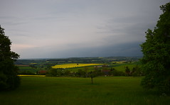 Vert et jaune en Sarre Green and yellow Germany - Grn und gelb im Saarland (CHAM BT) Tags: village tempete jaune vert colza nuage gris campagne maison storm yellow green cloud grey countryside house allemagne sarre germany