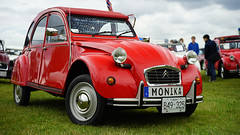 """Monika"" (Eric Flexyourhead (shoulder injury, slow)) Tags: red canada car zeiss french bc britishcolumbia citron monika 2cv northvancouver 169 waterfrontpark 2016 citron2cv 55mmf18 italianfrenchcarbikefestival sonyalphaa7 zeisssonnartfe55mmf18za"