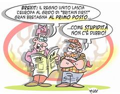 Brexit First (Moise-Creativo Galattico) Tags: vignette satira attualit moise giornalismo editoriali moiseditoriali editorialiafumetti brexit