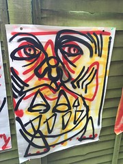 Glare (Krillinator) Tags: street uk red summer england sun white black colour detail art nature face lines yellow illustration composition self work garden painting paper outside outdoors layout graffiti student paint artist different hand bright personal drawing expression contemporary background creative free vivid surreal style images spray illustrative line marks size illustrator draw outlines simple produced bold foreground individual 2016