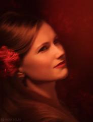 Carmen (Anna Atlas) Tags: flowers portrait color girl beauty artwork fineart redlips carmen photoart studioportrait