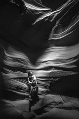 Bask in the light (GnarlyRelics) Tags: light arizona portrait blackandwhite bw woman white black dusty love monument girl monochrome up look rock wall lady dark outside mono blackwhite sand nikon women child looking desert natural young dry az canyon national page antelope stare d750 inside dust slot shodow 14mm novajo rokinon