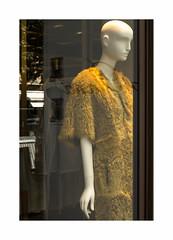 Drglement climatique (hlne chantemerle) Tags: paris photographie reflets manequin luxe safran vitrine ombres champslyses commerces photosderue beauxquartiers peaudagneau