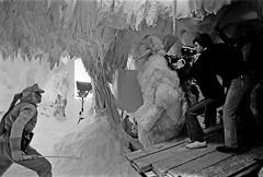 Luke Skywalker protecting himself from the Wampa (Tom Simpson) Tags: starwars cave lukeskywalker behindthescenes hoth markhamill wampa theempirestrikesback