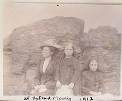At Ystrad Meurig Wales  1912 (Bury Gardener) Tags: uk blackandwhite bw wales vintage oldies 1900s