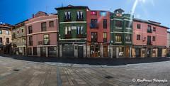 Panoramica de la Plaza San Martin de Leon, Castilla y Leon, Espaa. (RAYPORRES) Tags: espaa leon julio panoramica 2016 plazasanmartin castillayleon casaleon sanmigueldelcamino
