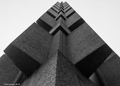 Getting Out Of A Corner (that_damn_duck) Tags: bw building architecture blackwhite southcarolina columbia usc universityofsouthcarolina humanitiesbuildingatusc