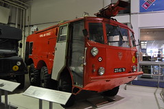 Alvis Salamander 6x6 crash tender (Richard.Crockett 64) Tags: london salamander fireengine raf alvis airfield militaryvehicle hendon royalairforce crashtender royalairforcemuseum historichangars
