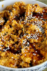 Butternut Squash & Tahini Spread 3 (Couscous & Consciousness) Tags: pumpkin recipe spread squash vegetarian sesameseeds dip butternut middleeastern appetiser tahini ottolenghi datesyrup