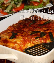 Roast pumpkin & ricotta cannelloni (in proscuitto of perfection) Tags: cheese pumpkin pasta roast ricotta bake tomatosauce cannelloni