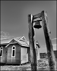 St. Barnabas (Mark-Cooper-Photography) Tags: bw white black church saint st canon tin iron bell rusty australia nsw 5d outback shack hay 1740mm barnabas anglican corrugated murrumbidgee oxley ef1740l ef1740mmf40lusm 5dmarkiii markcooperphotography