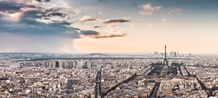 Paris (Philipp Gtze) Tags: paris france rain clouds tour eiffel ladefense montparnasse