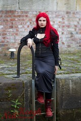 IMG_4696 (Neil Keogh Photography) Tags: red black necklace wig gothgirl redhair chocker newrockboots manchestercitycenter corsetmodelkat