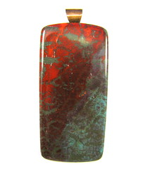 Fabulous Faux Collection - Sonora Sunrise Pendant Rectangle (Lynda Moseley Diva Designs Inc) Tags: bloodred scarletred polymerclayjewelry polymerclaypendants polymerclayearrings mosaicjewelry tealturquoise fauxfinishpolymer turquoiseandredjewelry fauxsonorasunrisepolymerclayjewelry