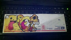 Trimbles, Nazer & Mewdoo colab (Nazer26) Tags: bird art monster painting skull sticker paint artist drawing stickers draw trade trimbles nazer colabs mewdoo