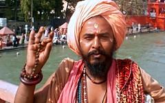 Aum (Vincentdevincennes) Tags: portrait people orange india man colors streetlife hinduism baba ganga sadhu aum ghat haridwar khumbmela uttarakhand