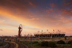 1 year on (Stuart Stevenson) Tags: uk morning england london festival skyline sunrise photography scotland early cityscape view anniversary traintracks railway wideangle cycle canarywharf olympicstadium stratford eastend olympicgames clydevalley oneyearon 1yearon thanksforviewing orbittower canon5dmkii olympiclegacy 2012summerolympics stuartstevenson ©stuartstevenson arcelormittalorbit queenelizabetholympicpark prudentialridelondon