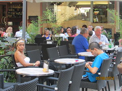 Cafe culture (David Denny2008) Tags: cruise france river august provence brunette avignon rhone 2013