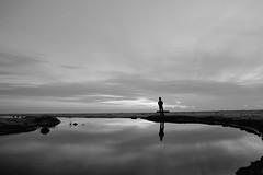 Alone (hari{z}ulkarnain) Tags: reflection beach sunrise nikon cousin raya fx aidilfitri syawal kelantan nelayan sepupu 2013 kelate bachok melawi sigma24mm18 d700 flickrtravelaward syawal2013 raya2013