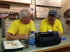 Bill and Ken at Buffalo Bob's in Kallispell MT (spelio) Tags: trip travel usa holiday montana mt australia email rv aug 2013