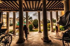 Pillars (soumava_dg) Tags: light shadow india color heritage history architecture nikon pillar wideangle hyderabad tamron nawab chowmahalla 1024mm d3100