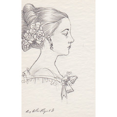 opulence (the brilliant magpie) Tags: blackandwhite woman art girl face illustration pencil sketch forsale amy drawing draw etsy graphite abshierreyes