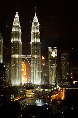 From the Sky Bar (Katherine Ross) Tags: night hotel view petronas towers twin malaysia kualalumpur selangor skybar traders