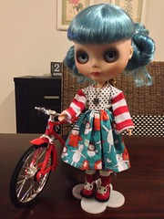 "Newest little one in my collection! Candy Carnival base, custom blythe ""Prudence"" #9"
