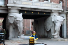 Travels of badger - Elefantporten of  Carlsberg Breweries (enigmabadger) Tags: travel vacation copenhagen denmark lego fig danish minifig custom minifigure brickarms