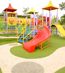 Playground (Ivan Lonan) Tags: tree net playground kids fun colorful iron stair child mat sliding