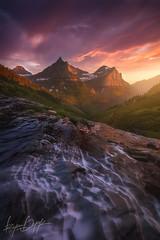 Into The Valley (Ryan Dyar) Tags: summer photography montana glaciernationalpark reynolds dyar mountoberlin dyarryan mountainclements mountainthunderstormwaterfallcreekstreammountainsnorthern rockieslewis rangesunsetlightvalleyryan