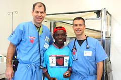 "Dr. Dave Tetzlaff, Dr. Paul Melchert and Liberian friend • <a style=""font-size:0.8em;"" href=""http://www.flickr.com/photos/109076046@N08/10946482134/"" target=""_blank"">View on Flickr</a>"