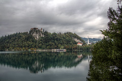 Bled Castle and Lake Bled (pbr42) Tags: lake castle water h2o slovenia bled hdr lakebled