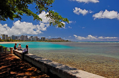 Kewalo Basin Park (jcc55883) Tags: ocean sky clouds hawaii nikon oahu horizon diamondhead honolulu yabbadabbadoo d40 nikond40 kewalobasinpark alamoanaarea poacificocean